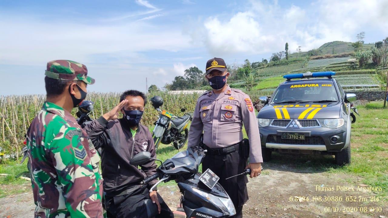 Operasi Yustisi Gabungan 3 Pilar,  Polsek Argapura Sosialisasikan 3M dan Protokol Kesehatan