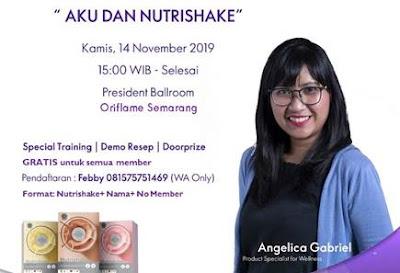 Nutrishake Training Oriflame Semarang