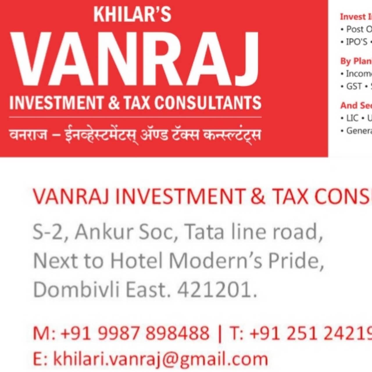 VANRAJ INVESTMENT & TAX CONSULTANT