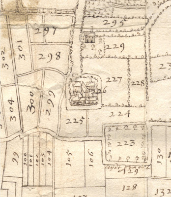 Kaart abdijarchief Averbode, tweede helft 18de eeuw