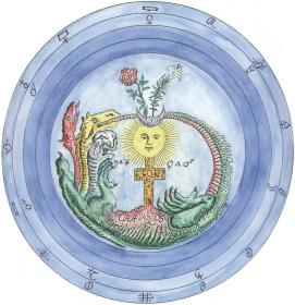 Redrawn From A Manuscript In The Manly Palmer Hall Collection, Alchemical And Hermetic Emblems 1