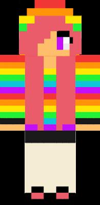 A girl with rainbows