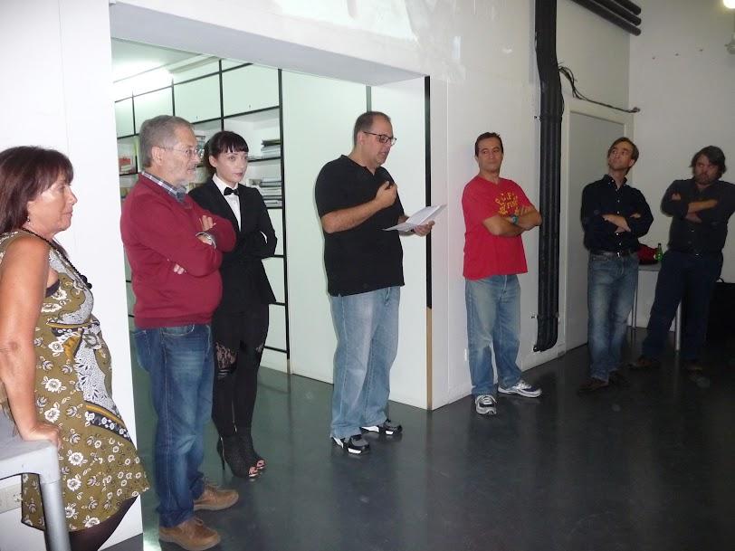 Foto da inauguração da exposição