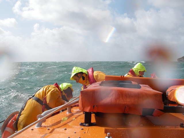 11 September 2011 - the crew recovering a man overboard (exericse!)