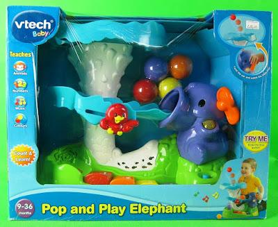 Hình ảnh hộp Đồ chơi Voi con phát nhạc Vtech Pop and Play Elephant