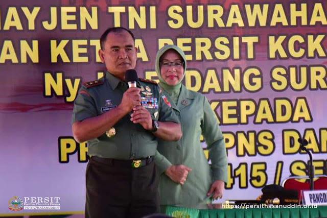 KUNKER KE LOKASI TMMD KE - 102 KEPULAUAN SELAYAR, PANGDAM XIV/HASSANUDDIN APRESIASI KINERJA PASUKAN TNI - AD