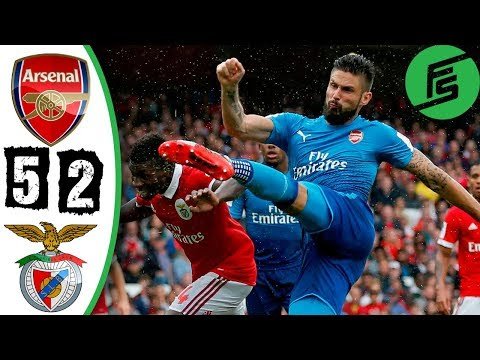 [Video] Arsenal vs Benfica 5-2 – Highlights & Goals – 29 July 2017