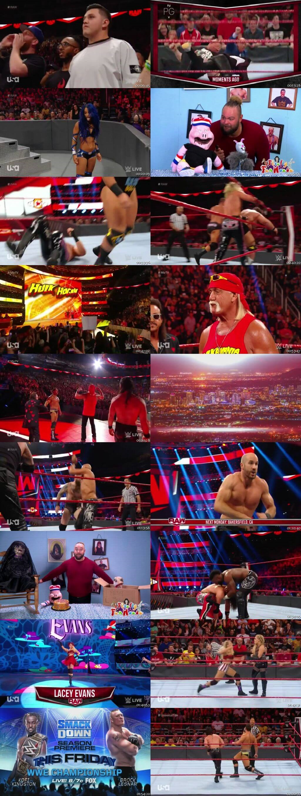 Screen Shot Of Wrestling TV Show WWE Monday Night Raw 30th September Watch Online Free Download