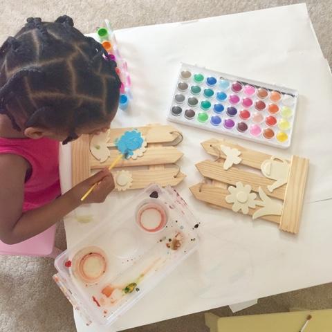 crafts homeschool toddler preschool dollar tree wood paint top mom mommy motherhood atlanta black blogger