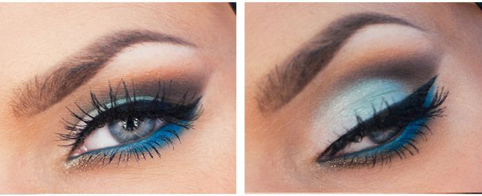 Maquiagem azul serenity