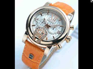 jam tangan Aigner romawi ring polos  variasi oren