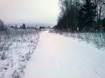 Первый снег на трассе 27.11.2013