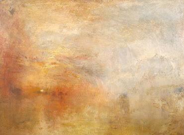 Posta de sol sobre un llac - W. Turner
