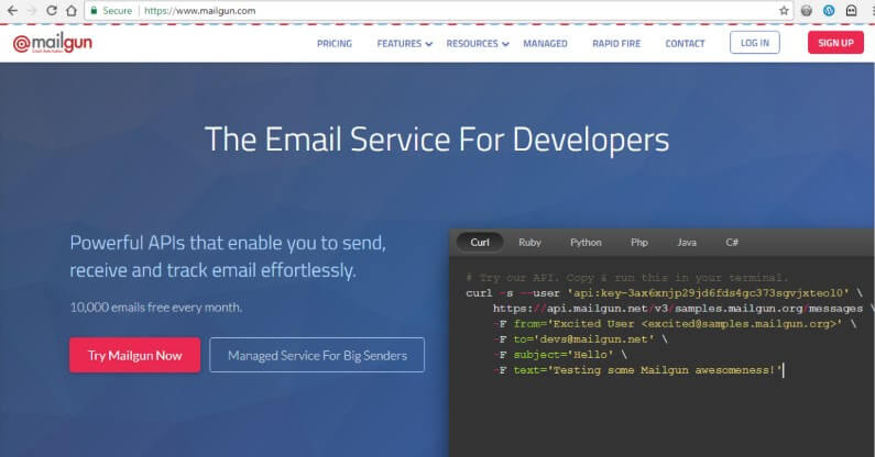 SMTP Providers for WordPress - MailGun