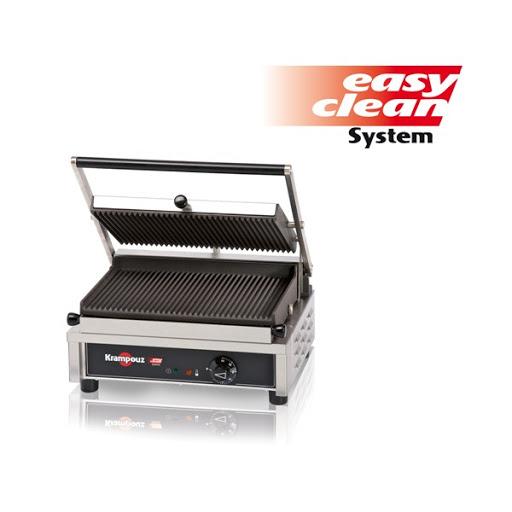 GECID4 Piastre panini contact grill con area cottura 35 x 23