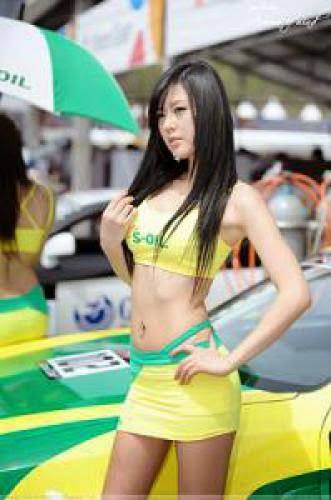 Cute Car Racing Girl