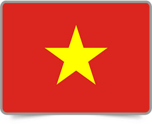 Vietnamese framed flag icons with box shadow