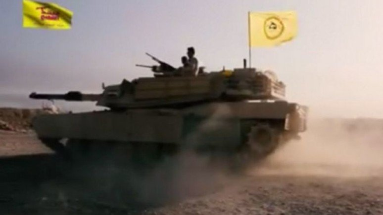 Iraqi terrorists aligned with Iran using American battle tanks