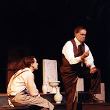 Kevin Miller and Bob Laurilliard in LOOK HOMEWARD, ANGEL (R) - March 1994.  Property of The Schenectady Civic Players Theater Archive.