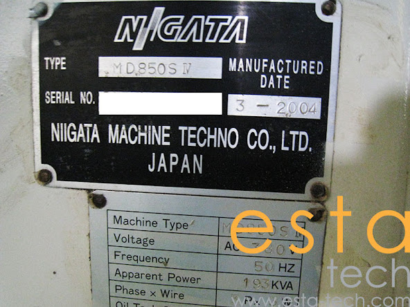 Niigata MD850S-IV (2004) Electric Injection Moulding Machine