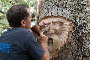 Лица на пнях и высохших деревьях Кейта Дженнингса