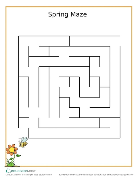 Kids Activity: Fun Flower Maze
