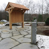 Rustic Kiosk at Rail Trail Rest Area