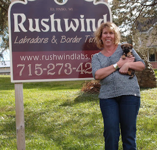 Amy flew in from Colorado to take her baby home.  Miss Yellow (Ellie) leaving Rushwind on October 21, '12