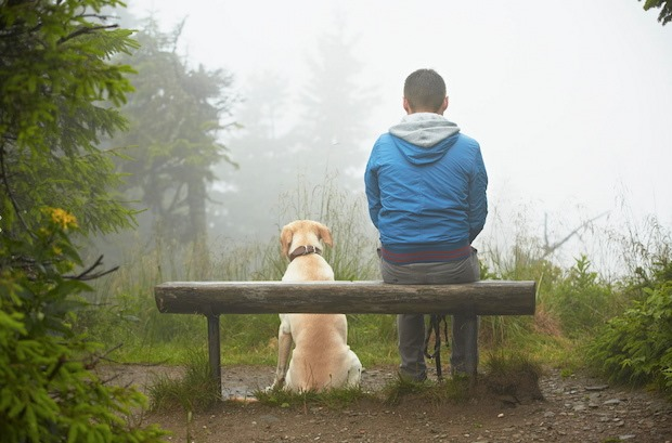 Lost man with his dog Outdoor Men Photography