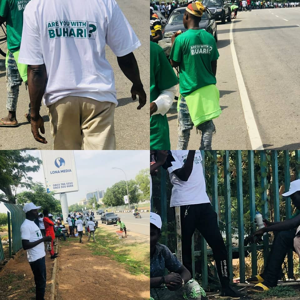 Photos and video of #IstandwithBuhari protesters in Abuja (video)