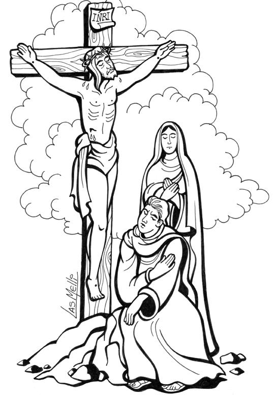 El Rincón de las Melli: DIBUJO: María al pie de la Cruz