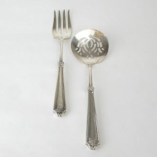 Sterling Silver-Handled Serving Pair