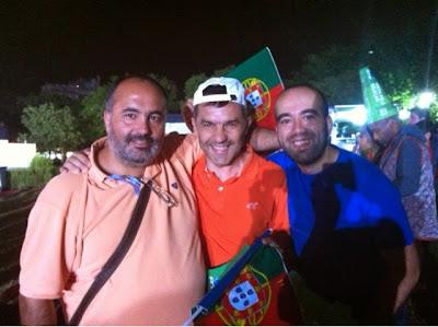 Para o jogo de Portugal - USA no Futebol Park, Parque Eduardo VII