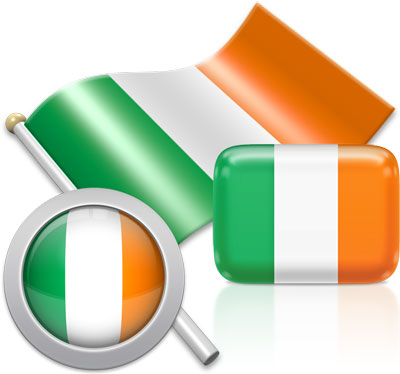 Irish flag icons pictures collection