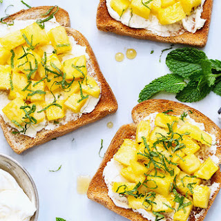 Fancy Pineapple Toasts