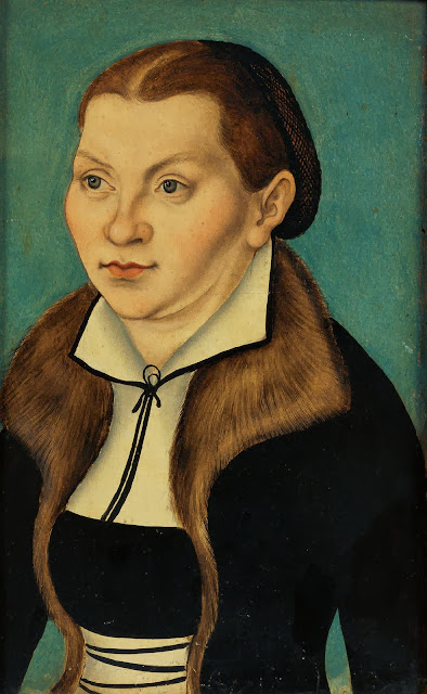 Lucas Cranach the Elder - Portrait of Katharina von Bora (spouse of Martin Luther)