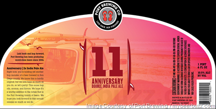 Image result for port anniversary ale 11 label