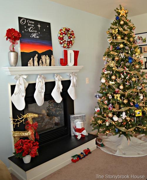 Christmas Art with Tree