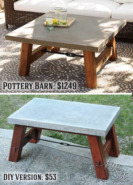 Pottery Barn Table DIY Version