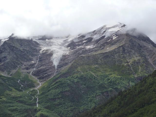 Glacier au-dessus de Terskol (Kabardino-Balkarie), 7 août 2014. Photo : J. Marquet