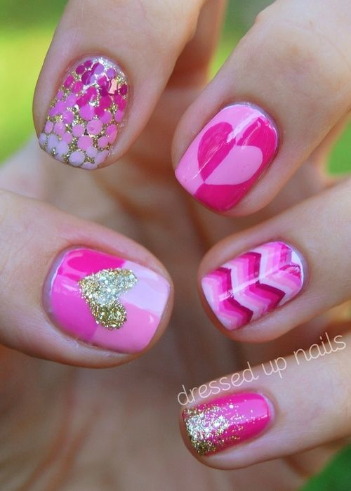Top 100 lovely Ideas to Have Valentine's Day - Nails Art Designs 2018