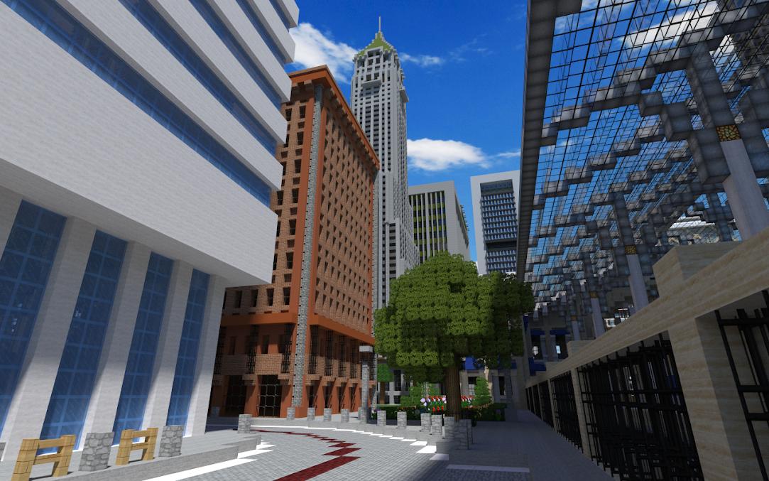 Galerie hd eilmont construction r aliste d 39 une ville contemporai - Ville moderne minecraft ...