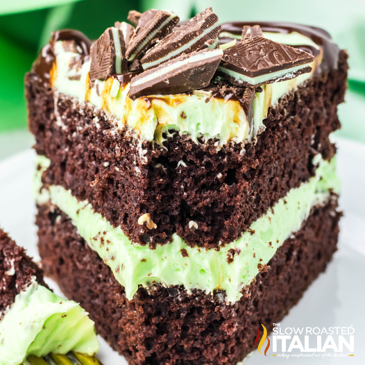Chocolate Mint Cake with Buttercream Frosting