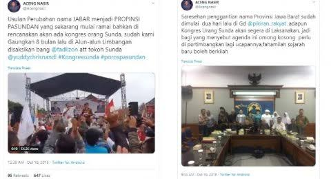 Pemerintah Didesak Ganti Nama Jawa Barat Menjadi Provinsi Pasundan