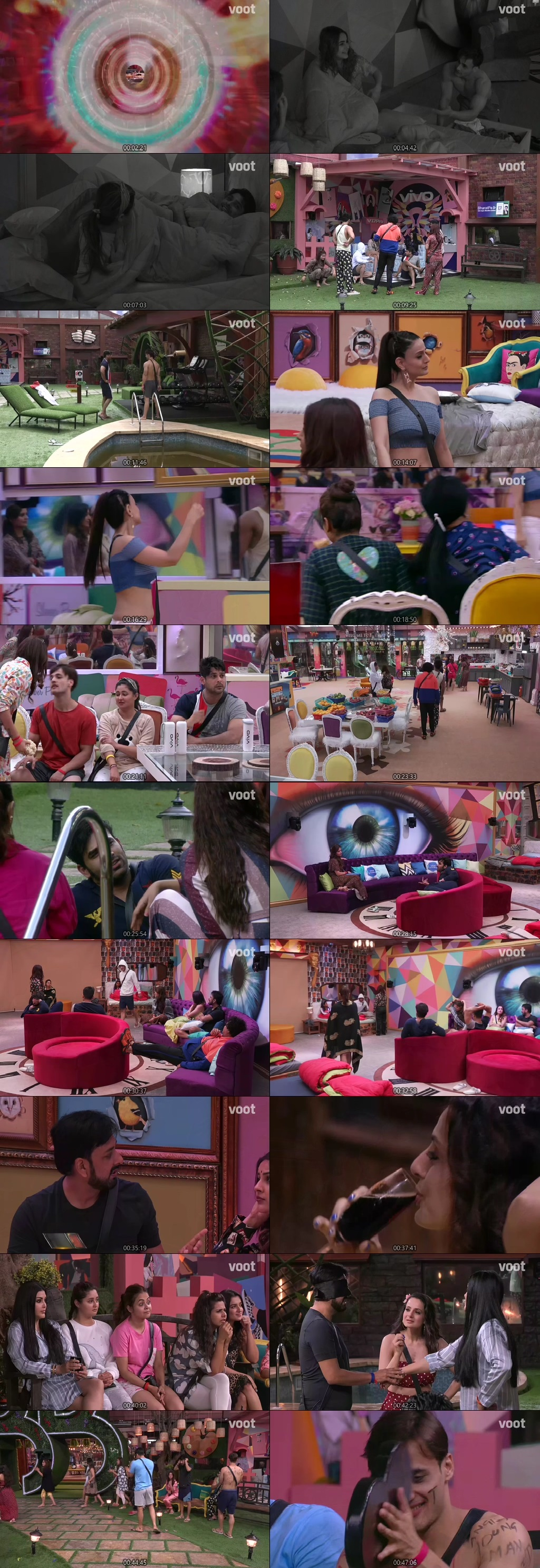 Screenshots Of Hindi Show Bigg Boss 13 30th September 2019 Episode 01 300MB 480P HD