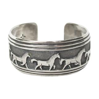 Sterling Silver Equestrian Cuff Bracelet
