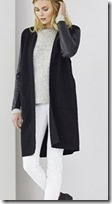 the White Company leather sleeve boiled wool cardigan