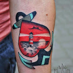Lighthouse heart forearm