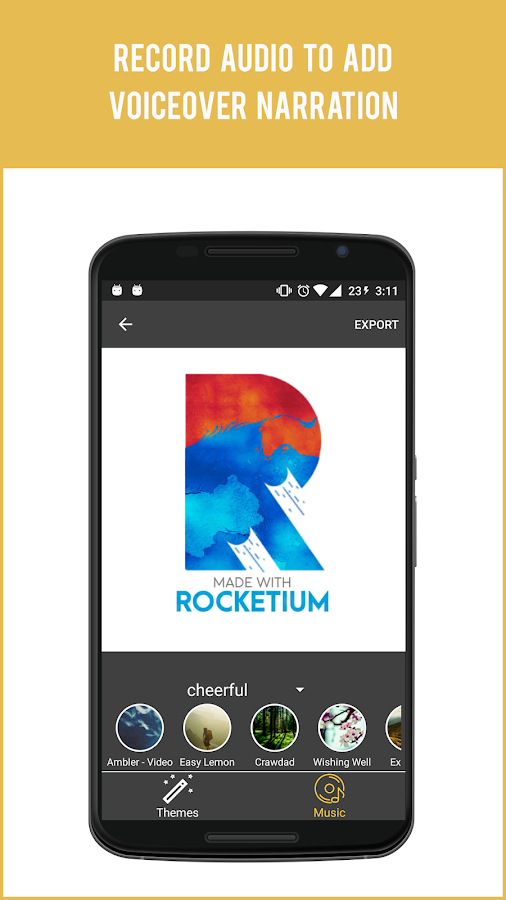 Rocketium - make great videos- screenshot