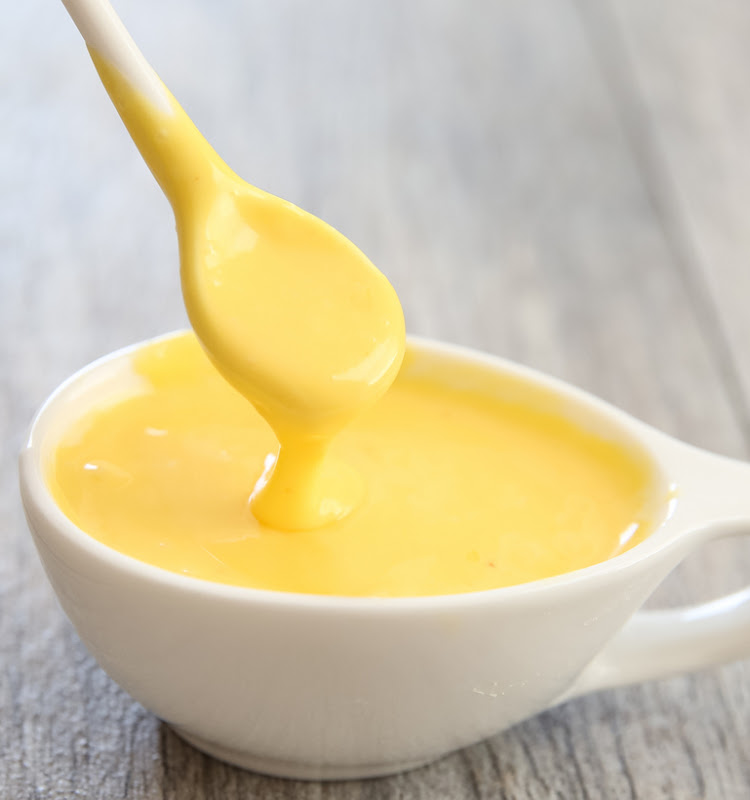 photo of a bowl of Blender Hollandaise Sauce
